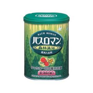 アース製薬 入浴剤 バスロマン 森林温浴 680g|ejoy