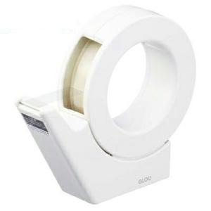 コクヨ テープカッター GLOO グルー 吸盤 ハンディタイプ 大巻き 専用 白 T-GM500W ...
