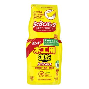 KONISHI ボンド 木工用 速乾 らくらくパック #40301(コニシ接着剤 のり 糊 エフフォ...