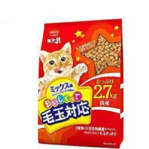 日本ペットフード ミオおいしくって毛玉対応 ミックス味 2.7Kg|ejoy