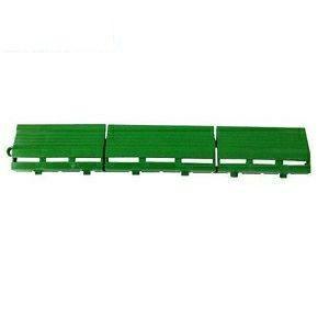 ジョイント人工芝 若草ユニット Eタイプ用 細縁駒O型 グリーン|ejoy