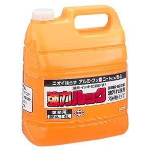 ライオン 強力ルック 4L 業務用 洗剤 労働衛生用品 食器洗浄剤 オレンジミント レンジ 換気扇 グリル 厨房機器 油汚れ ejoy