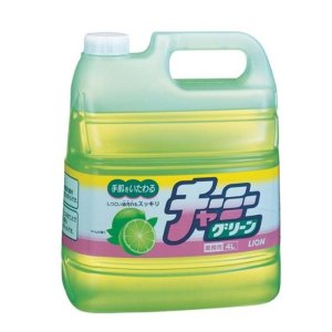 ライオン チャーミー グリーン 4L 業務用 手肌にやさしく油汚れに強いキッチン洗剤 台所 植物性 かんたんすすぎ 食器 ガラス ライムの香り|ejoy