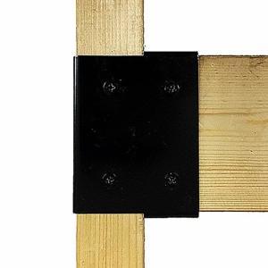 和気産業 Walist ウォリスト ツーバイ材用補強金具 エンド 黒 WAT-009 クロ (DIY 補強 金具 木材用)|ejoy