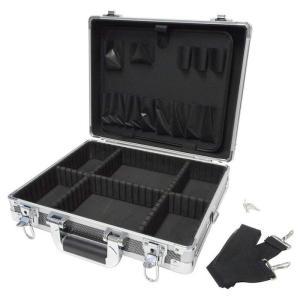 GREATTOOL(グレートツール) アルミフレームケース M ブラック GTAM-10MB (工具箱 ツールボックス ツールケース 工具収納 DIY)|ejoy