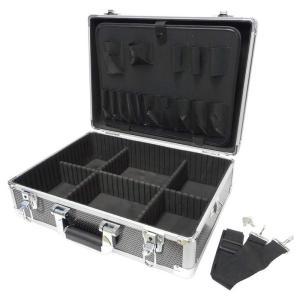 GREATTOOL(グレートツール) アルミフレームケース L ブラック GTAM-15LB  (工具箱 ツールボックス ツールケース 工具収納 DIY)|ejoy