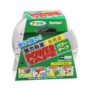アサヒペン 水に強い 強力粘着 パワーテープ 48mm×10m ホワイト 4970925602213