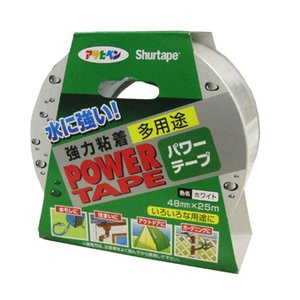アサヒペン 水に強い 強力粘着 パワーテープ 48mm×25m ホワイト 4970925602237