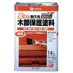 カンペハピオ 油性 木部保護塗料 14L チーク|ejoy