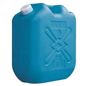 土井金属化成 灯油缶 18L ブルー (ポリタンク 青 18リットル JISマーク JIS規格 灯油 ファンヒーター/ストーブに)|ejoy