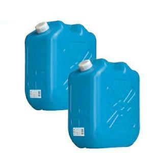 土井金属化成 灯油缶 18L ブルー 2個セット(ポリタンク 青 18リットル JISマーク JIS規格 灯油 ファンヒーター/ストーブに)|ejoy