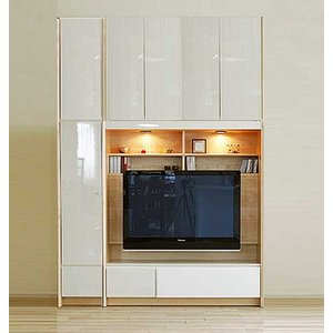 幅178×高215-245エストHW色TVset 板戸38+TVH140 大川製 受注生産 GUV塗装 ACEST|ekaguya