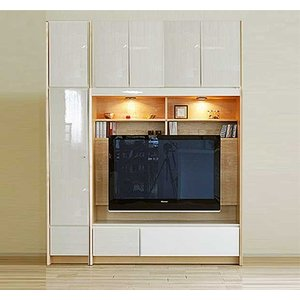 幅178×高190-214エストHW色TVset 板戸38+TVH140 大川製 受注生産 GUV塗装 ACEST|ekaguya
