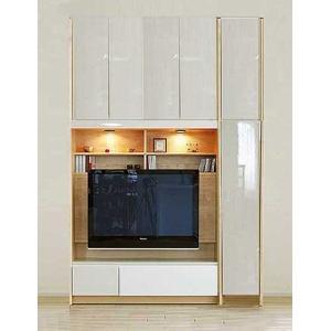 幅160-180×高215-245 エストHW色TVset ロッカ-+TVH140 大川製 受注生産 GUV塗装 ACEST|ekaguya