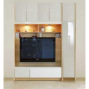 幅160-180×高190-214 エストHW色TVset ロッカ-+TVH140 大川製 受注生産 GUV塗装 ACEST|ekaguya