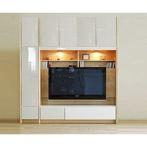 幅198×高190-214エストHW色TVset 板戸38+TVH160 大川製 受注生産 GUV塗装 ACEST|ekaguya