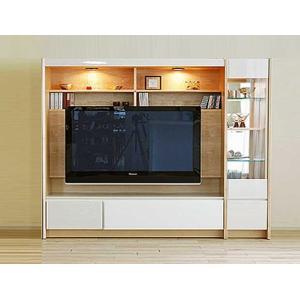 幅198×高155 エストHW色TVsetキュリオ38+TVH160 家具産地大川製 GUV塗装 ACEST|ekaguya