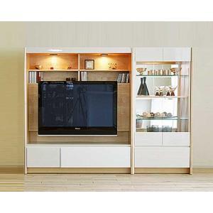 幅212×高155 エストHW色TVsetキュリオ72+TVH140 家具産地大川製 GUV塗装 ACEST|ekaguya