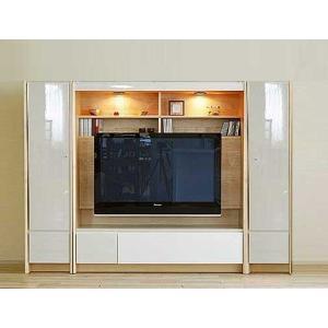幅216×高155エストHW色TVset板戸38+TVH140+板戸38 家具産地大川製 GUV塗装 ACEST|ekaguya