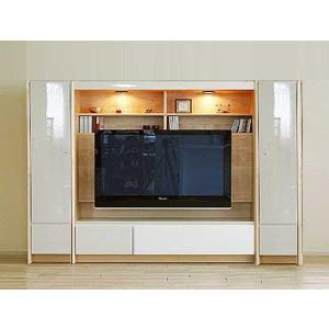 幅236×高155エストHW色TVset板戸38+TVH160+板戸38 家具産地大川製 GUV塗装 ACEST|ekaguya
