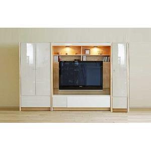 幅250×高155エストHW色TVset板戸72+TVH140+板戸38 家具産地大川製 GUV塗装 ACEST|ekaguya