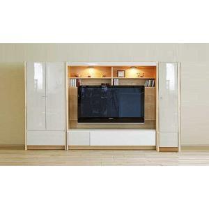 幅270×高155エストHW色TVset板戸72+TVH160+板戸38 家具産地大川製 GUV塗装 ACEST|ekaguya