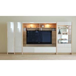 幅290-310×高155エストHW色setキュリオ72+TVH160+板戸38+ロッカー 大川製 受注生産 GUV塗装 ACEST|ekaguya