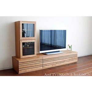 アクティフテレビ180L ブラックチェリー材 Actif TV180L CN色チェリーナチュラル色 W1802×D471×H300 大川製|ekaguya