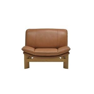 厳選国産 AlphaII 1P アルファーII 1人用 ソファー スムース革張り W990×D900×H780×SH390 革色・木部色が選べる 受注生産|ekaguya