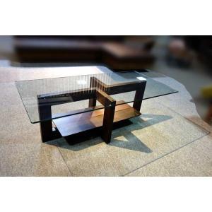 安心国産 10mmガラス+タモ脚 Atlanta1200リビングテーブル W1200×D600×H400|ekaguya
