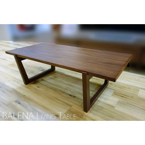 BALENA LivingTable120 RN/CH色 バレーナ120リビングテーブル リアルナットナチュラル/ショコラ色 W1200D590H380 国産大川製|ekaguya