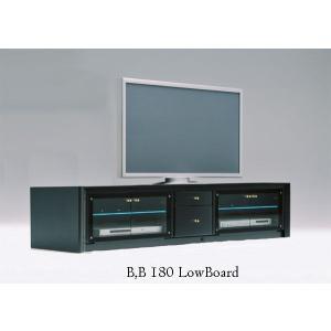 光るガラス棚 B,B180 AV Board B,B180ローボード W1790×D440×H400 大川製|ekaguya