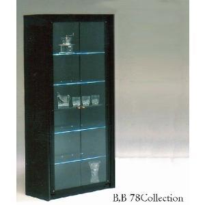 光るガラス棚 B,B78 CollectionBoard B,B78コレクション W780×D440×H1820 大川製|ekaguya
