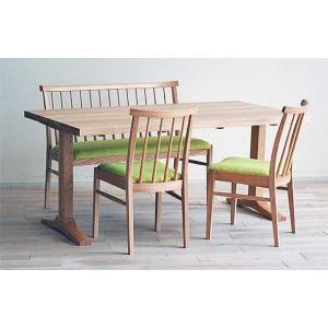 受注生産ベローズ150テーブルOC/OC+椅子OC/NGR 2脚+セティOC/NGR 座面素材・色・柄指定受注生産|ekaguya