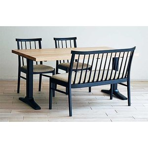 ベローズ150テーブルOC/BL+椅子BL/SBE 2脚+セティBL/SBE 座面素材・色・柄指定受注生産|ekaguya