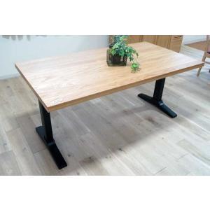 オーク ベローズ160テーブル天板OC色 脚BL色W160D85H70 天板・脚色がBL色OC色から選べます|ekaguya