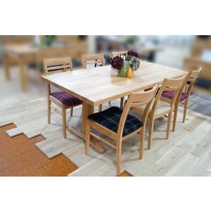 ベローズ160テーブルOC/OC+ベルサ椅子OC/GBR6脚 座面素材・色・柄指定受注生産|ekaguya
