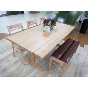 ベローズ160テーブルOC/OC+ベルサ椅子3脚+ベンチOC/NFB 座面素材・色・柄指定受注生産|ekaguya