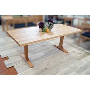 受注生産オーク ベローズ170テーブル天板OC色 脚OC色W170D85H70 天板・脚色がBL色OC色から選べます|ekaguya