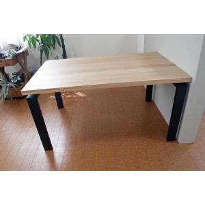 オーク ベルサ140テーブル天板OC色 脚BL色W140D85H70 天板・脚色がBL色OC色から選べます|ekaguya