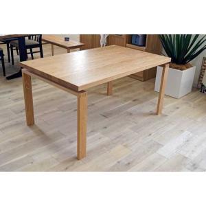 オーク ベルサ140テーブル天板OC色 脚OC色W140D85H70 天板・脚色がBL色OC色から選べます|ekaguya