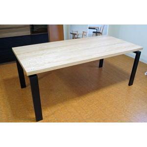 オーク ベルサ180テーブル天板OC色 脚BL色W140D85H70 天板・脚色がBL色OC色から選べます|ekaguya