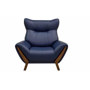 厳選国産 BULL 1P ブル 1人用 ソファー スムース調革張り W1040×D870×H1000×SH410 革色・木部色が選べる 受注生産|ekaguya