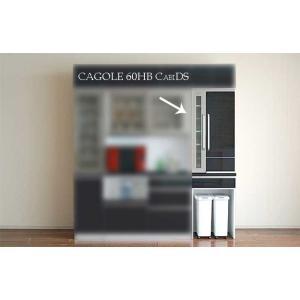 カゴールHB色 60キャビダスト 幅602mm 奥行500mm 高2050mm UV塗装 CAGOLE ヒッコリーブラック色 家具産地大川最高品質メーカー製 ekaguya