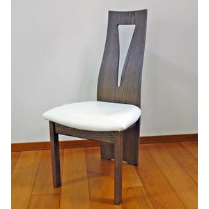 CBL464椅子CH/WH ショコラ/ホワイト W446×D565×H959 (SH430) 椅子木部・座面生地が選べる大川製|ekaguya