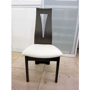 CBL464椅子UG/WH ウエンジ/ホワイト W446×D565×H959 (SH430) 椅子木部・座面生地が選べる大川製|ekaguya