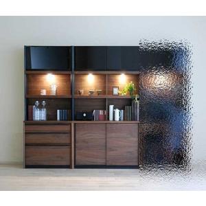 家具産地大川の家具職人製作 DecolaウォールナットRN色W170×H180 スライド100+チェスト70SET|ekaguya