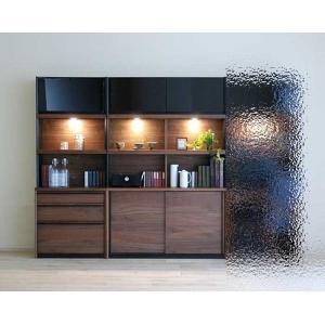 家具産地大川の家具職人製作 DecolaウォールナットRN色W190×H180 スライド120+チェスト70SET|ekaguya