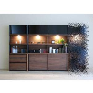 家具産地大川の家具職人製作 DecolaウォールナットRN色W230×H180 スライド160+チェスト70SET|ekaguya