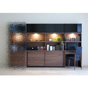 家具産地大川の家具職人製作 DecolaウォールナットRN色W230×H180 スライド160+デスク70SET|ekaguya